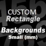 CUSTOM SIZE RECTANGLE STICKER BACKGROUND (small) - upto 275mm long